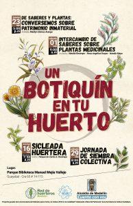 Afiche invitación Un botiquín en tu huerto